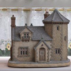 石造りの塔のある家